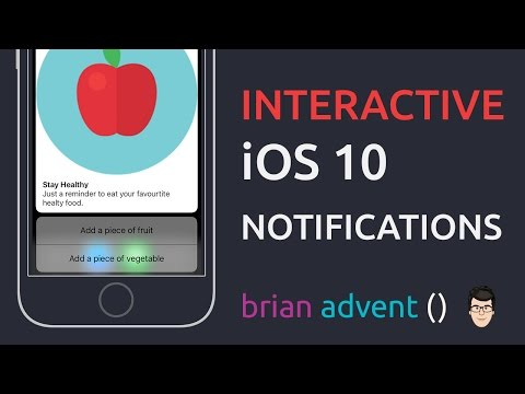 iOS Swift Tutorial: Rich and Interactive Notifications - iOS 10