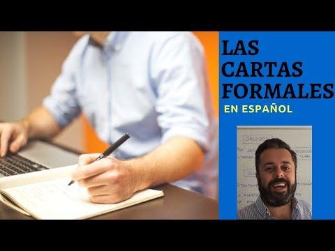Las cartas formales en español