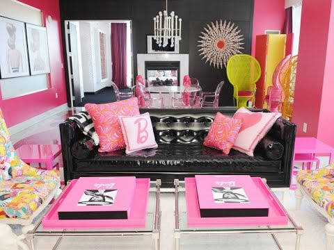 50 Interior Decorating Living Room Pink Color Classic!! - YouTube