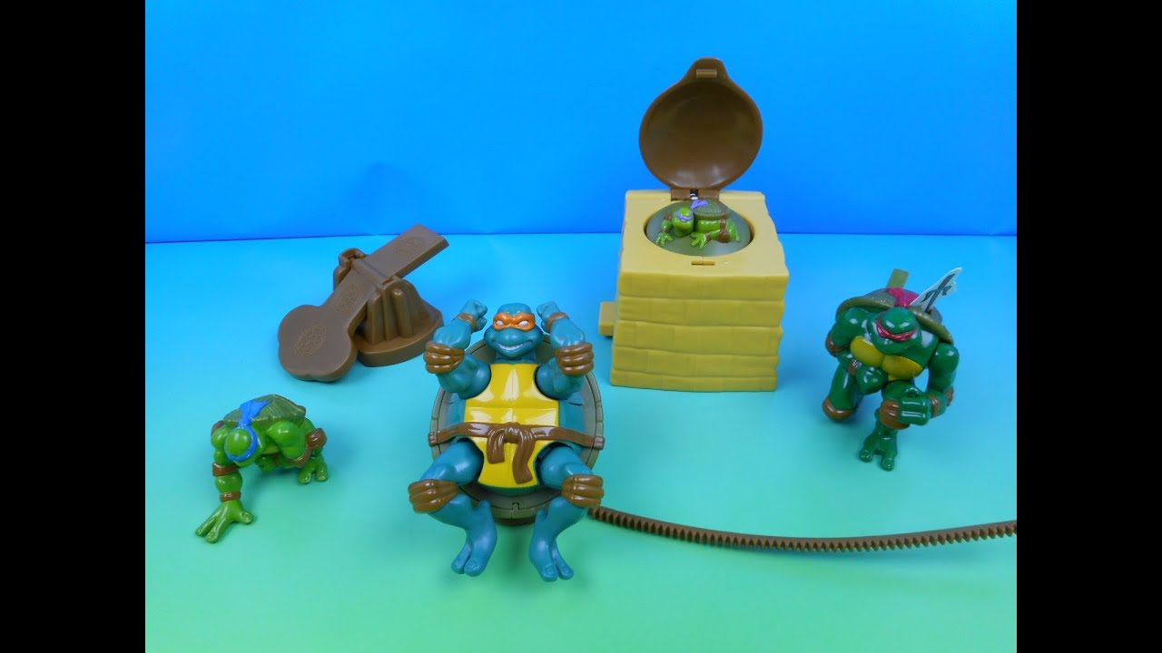 2006 teenage mutant ninja turtles in action set of 4