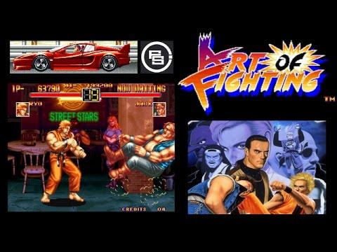 ART OF FIGHTING - NEO GEO version Arcade Game - YouTube