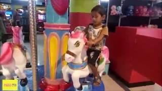 Kids Horse ride in SRMT Mall Kakinada