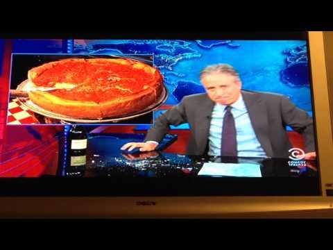 Jon Stewart rants on Chicago Deep Dish Pizza