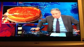 Jon Stewart rants on Chicago Deep Dish Pizza