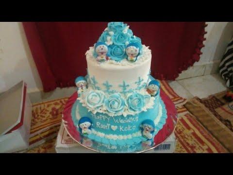Kue Pengantin Doraemon Biru