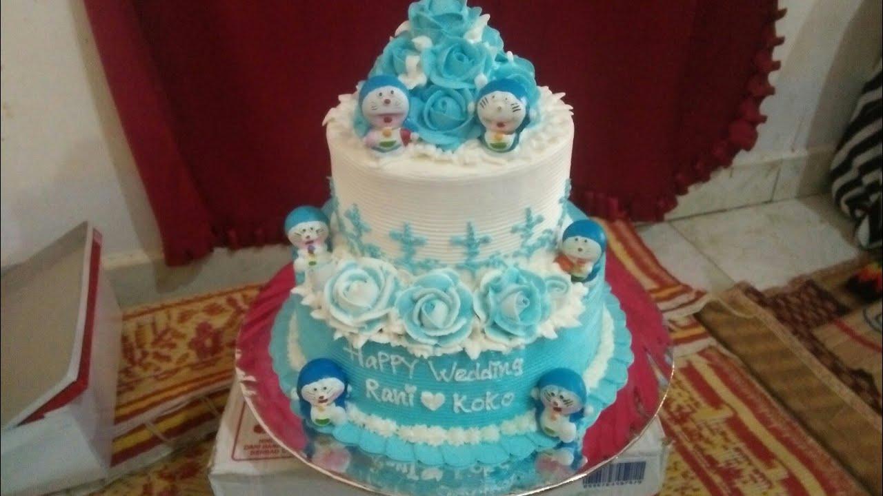 Kue Pengantin Doraemon Biru Youtube