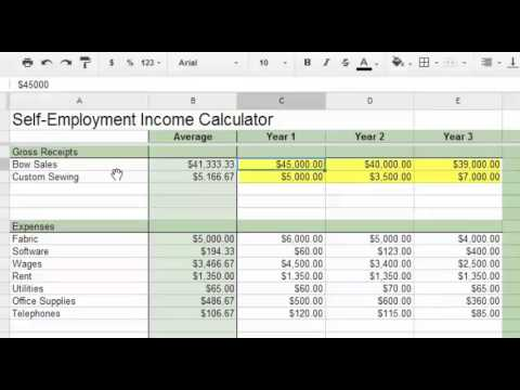 self employment calculator youtube. Black Bedroom Furniture Sets. Home Design Ideas