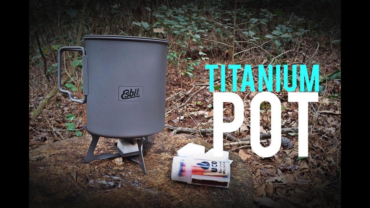 NEW!! Esbit Titanium Cook POT - YouTube 31c8404d0c7a6