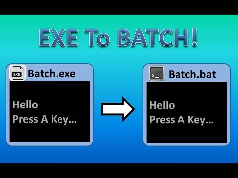 EXE to BAT | Easy & No Converter Needed!