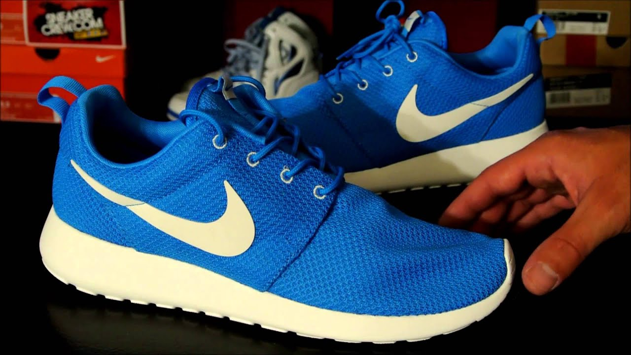 nike blue roshe run