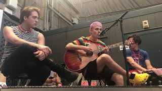 Lucky People - Waterparks [backstage acoustic set]