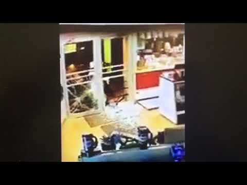 Man crashes stolen snowmobile into party store to steal smokes