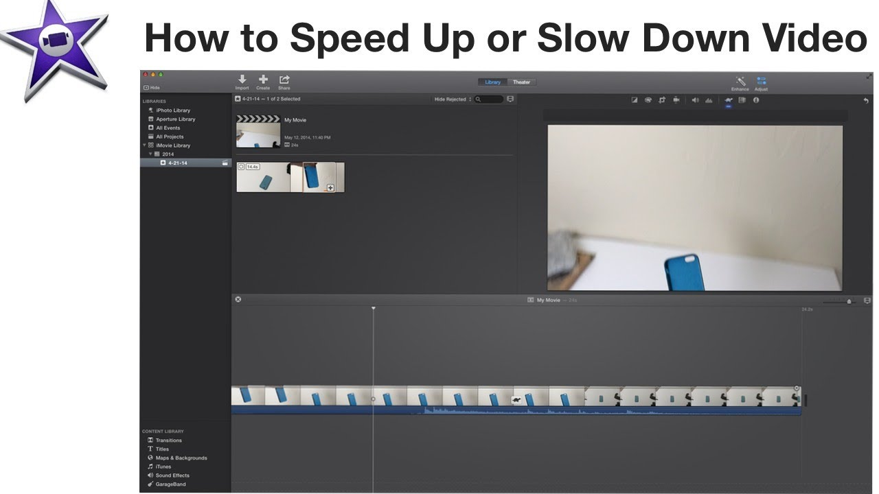 iMovie - How To Speed Up or Slow Down Video