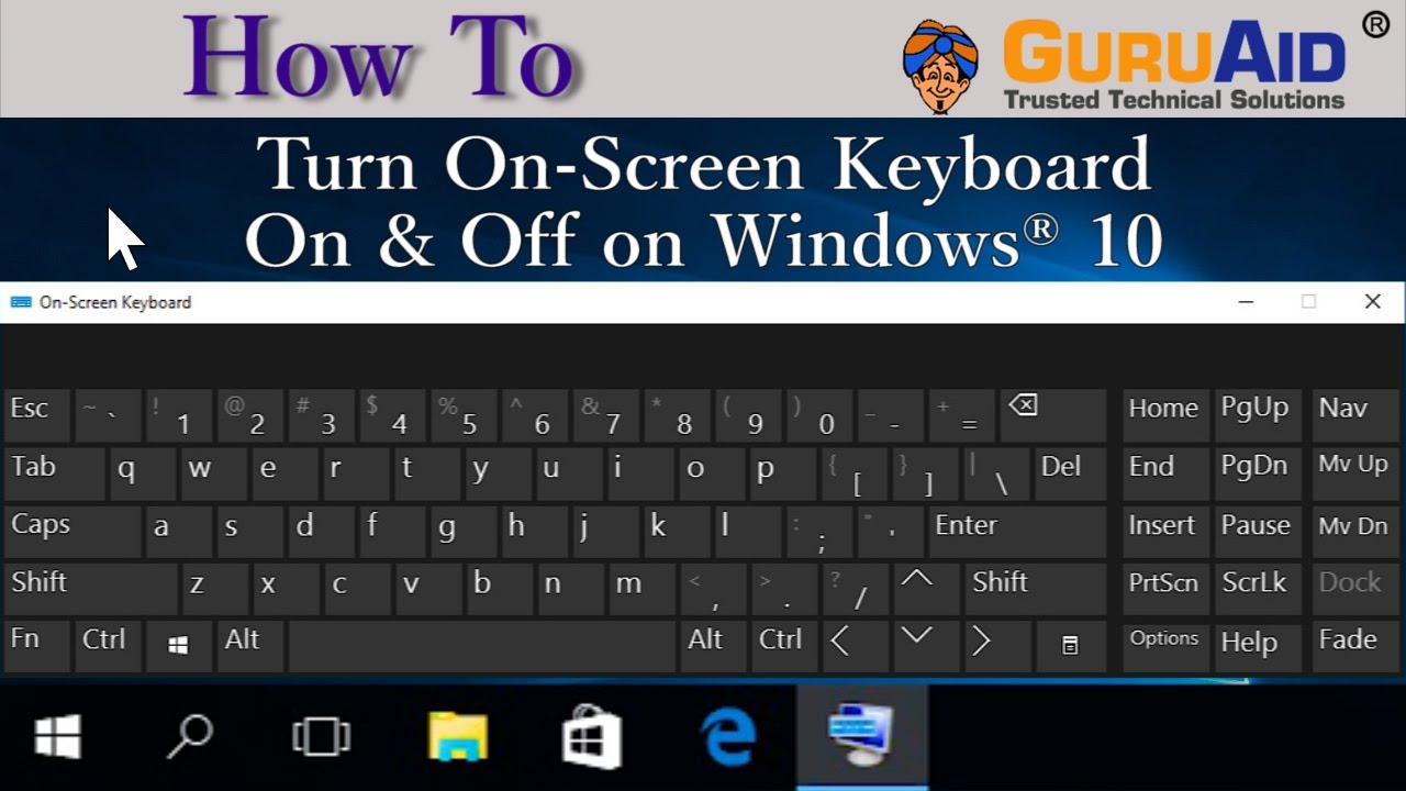 How to turn off pop up keyboard windows 10