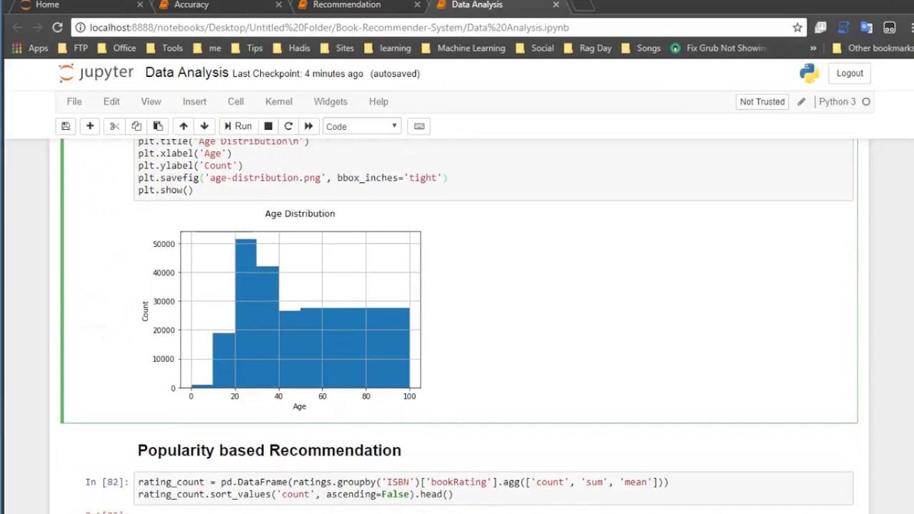 Recommendation system ( Collaborative Filtering Using Matrix Factorization )