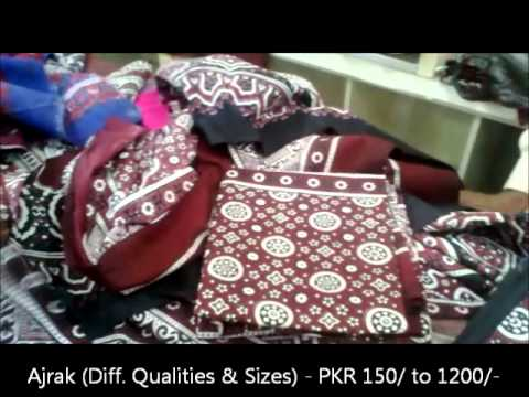2011 11 23 Sindhi Handicrafts Rilli Ajrak Sindhi Cap Etc Youtube