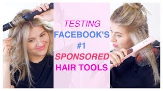 Testing Facebook's NUMBER ONE Sponsored Hair Tool: L'ANGE!