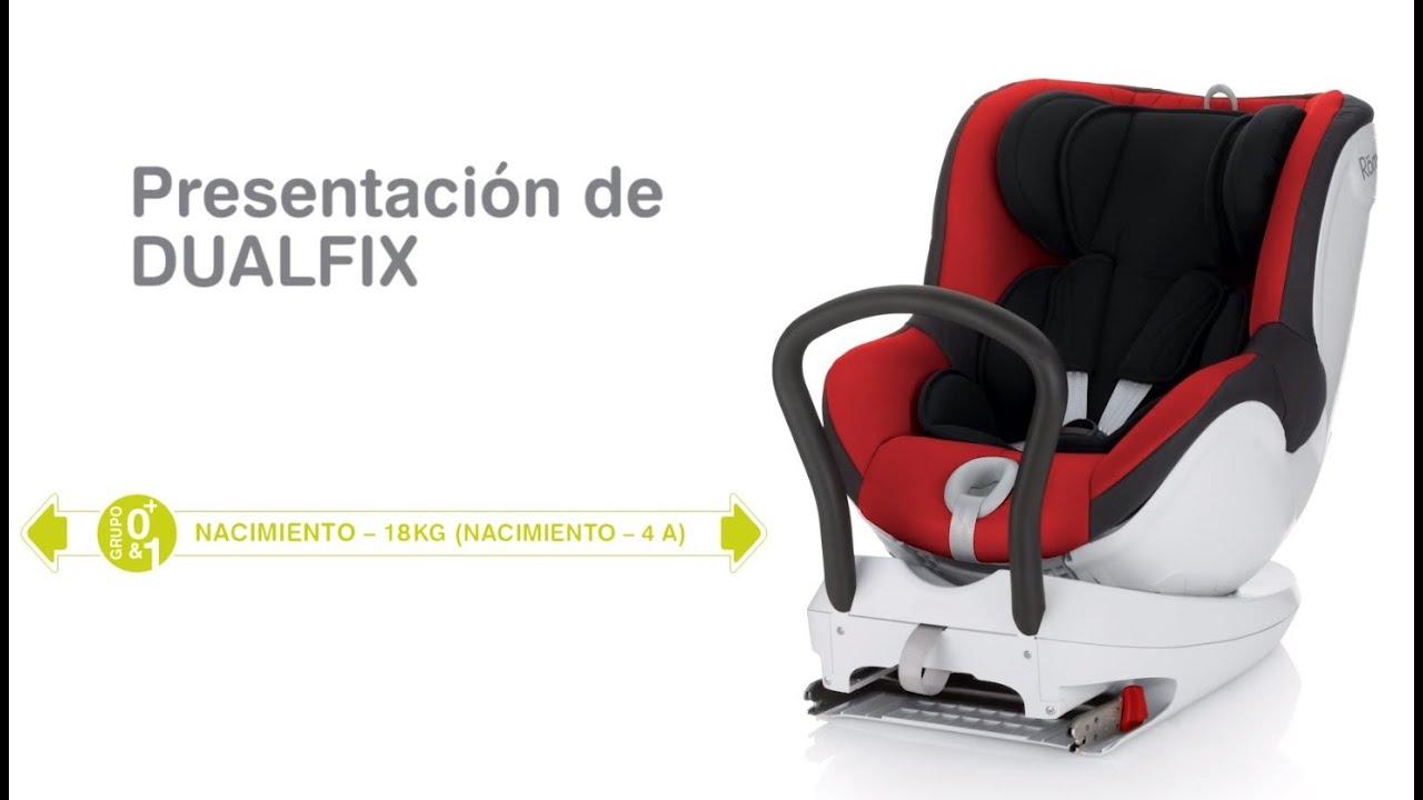 R mer dualfix silla auto grupo 0 i youtube for Sillas de coche a contramarcha