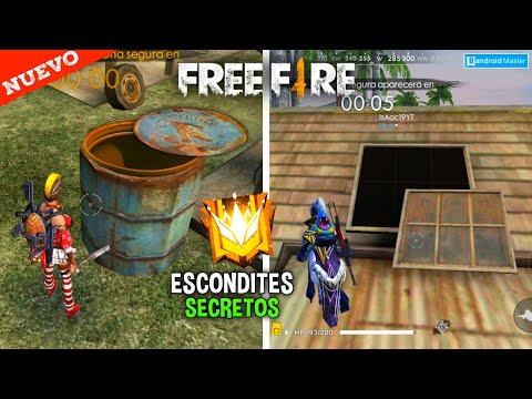 NUEVOS* ESCONDITE SUPER SECRETOS EN FREE FIRE PARA SUBIR A RANGO GRAN MAESTRO*