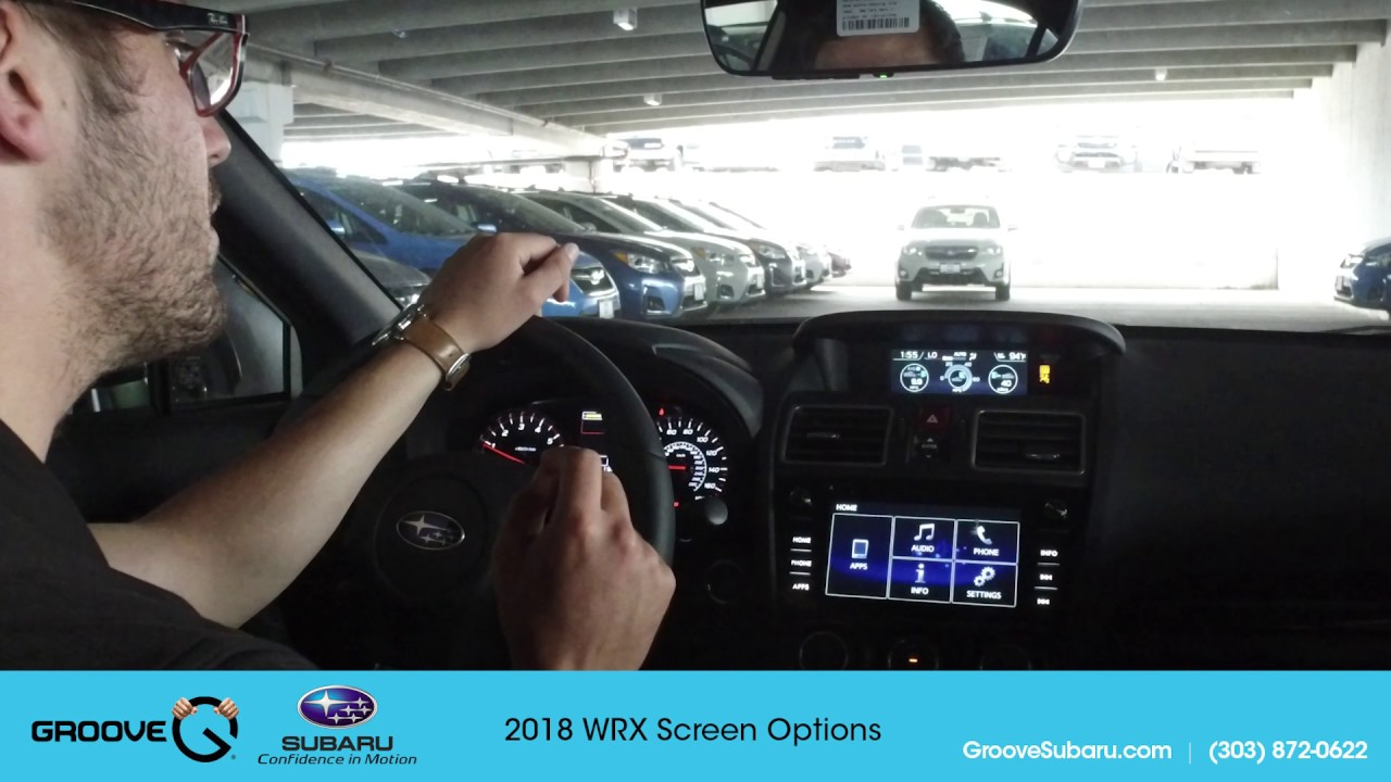 Adjusting Screen Options on your 2018 Subaru WRX