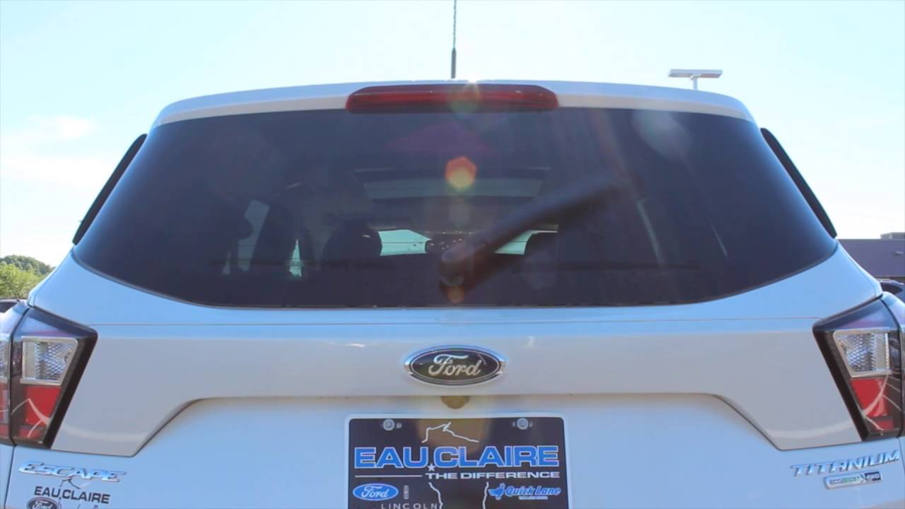 How To Use The Rear Wiper On A  Ford Escape Titanium At Eau Claire Ford Lincoln Quick Lane