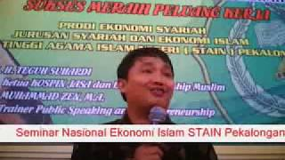 Seminar Nasional Ekonomi Islam Muhammad Zen (MZ) di STAIN Pekalongan