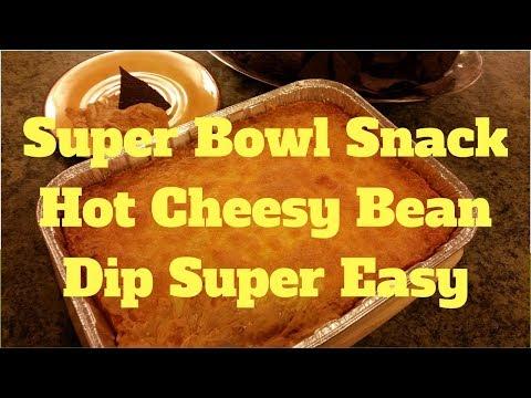 Super Bowl Snack Cheesy Hot Bean Dip Super Easy
