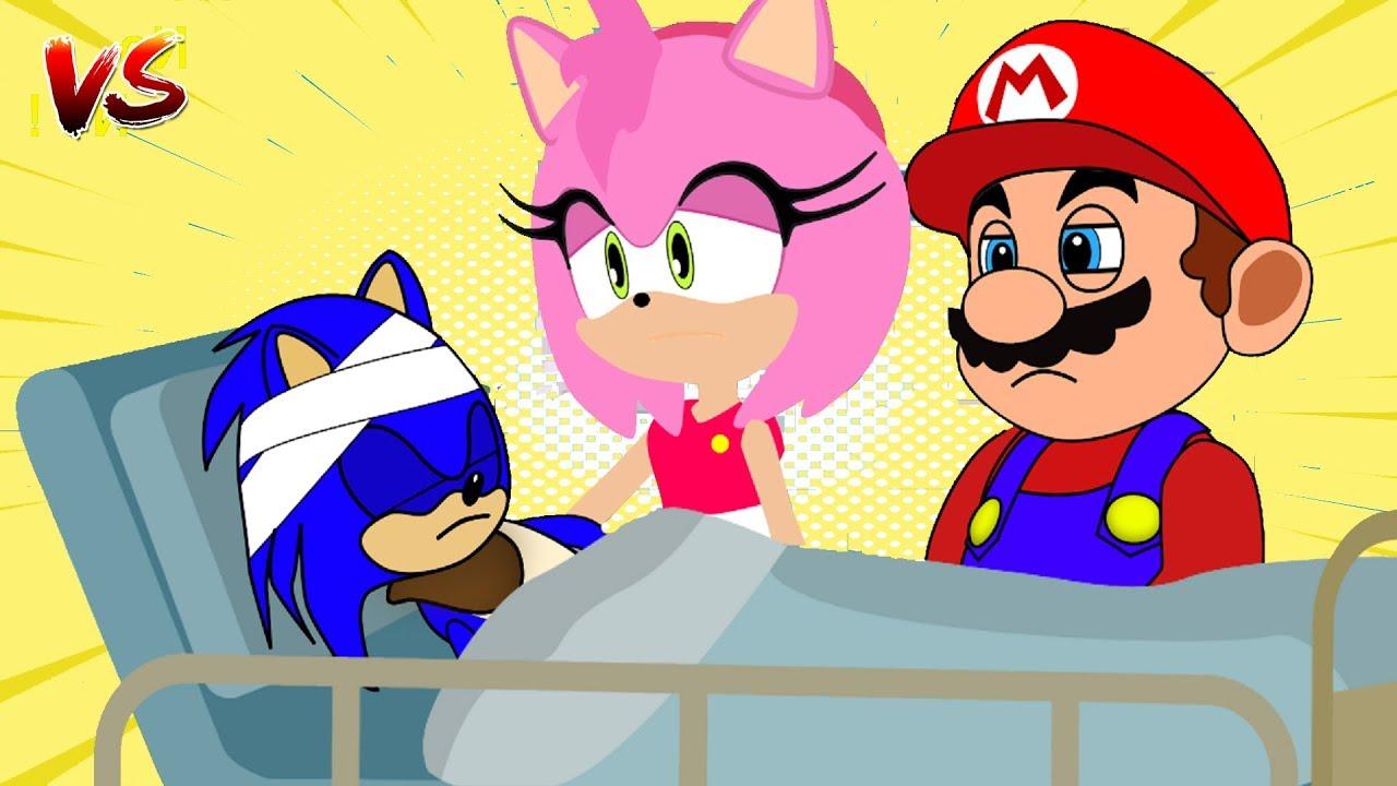Sonic EXE vs Sonic the Hedgehog, Bowser vs Mario - Sonic In the Prison Dream