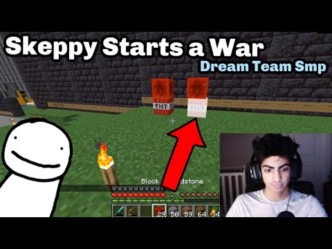 Skeppy Fights Dream On The Dream Team SMP (contains Swearing)