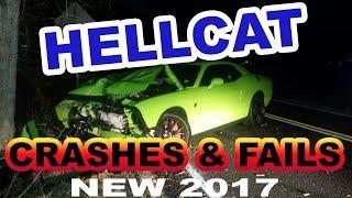 NEW 2017 DODGE HELLCAT CRASHES FAILS COPS COMPILATION