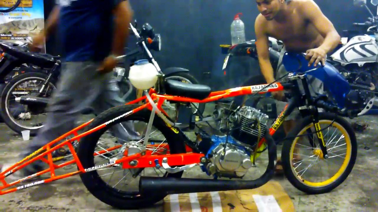 drag bike honda gl pro nyeting | brazil - youtube