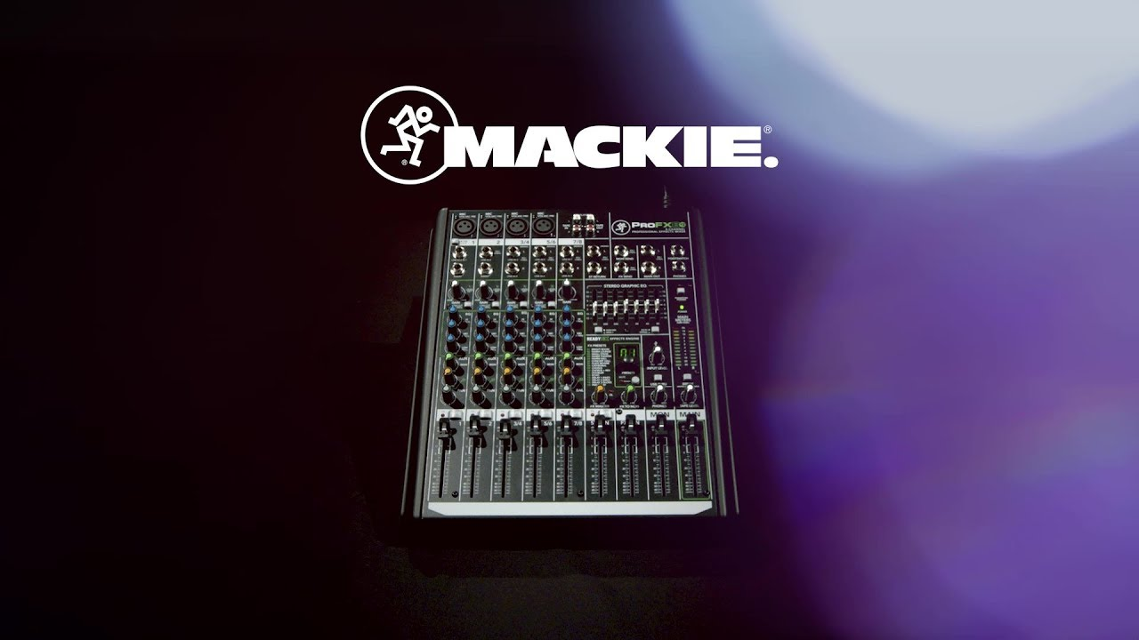 Mackie Profx8v2 8 Channel Professional Effects Mixer Gear4music Profx8 V2 Demo