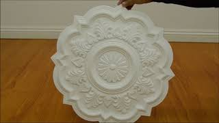 PU Moulding Ceiling Medallions for Chandelier and fan