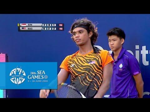 Tennis Mens Team Quarter Finals Match 2 Day 2  28th SEA Games Singapore