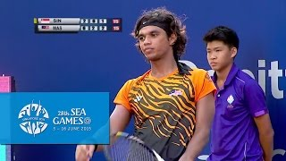 Tennis Men's Team Quarter Finals Match 2 (Day 2) | 28th SEA Games Singapore 2015