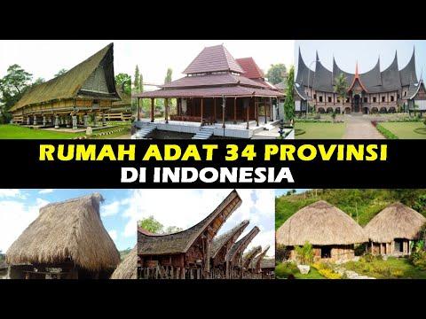 Rumah Adat 34 Provinsi Di Indonesia Id Info Youtube