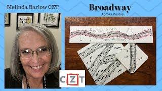 Zentangle Art Lesson #316 Broadway tangle pattern