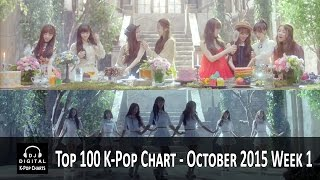Top 100 K-Pop Songs Chart - October 2015 Week 1