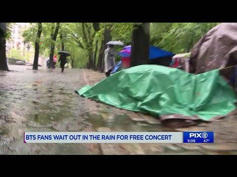 Hollywood Buzz - BTS ARMY camping out for Free Concert