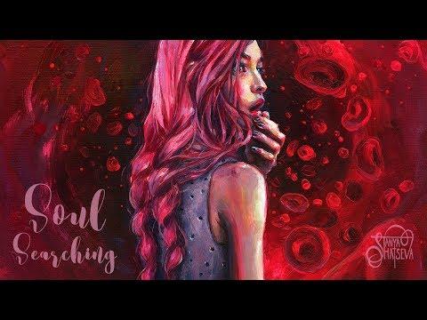 SOUL SEARCHING. Acrylic Blood Painting Process. thumbnail