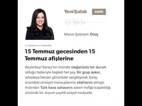 15 Temmuz gecesinden 15 Temmuz afişlerine-Merve Şebnem Oruç-13.07.2017