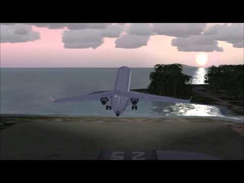 FSX Take off at Raiatea airport with Bombardier CRJ700
