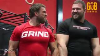 Kirill Sarychev back workout at Dmitry Klokov