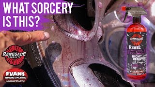 Clean your wheels with a purple bleed Voodoo X - Renegade Products