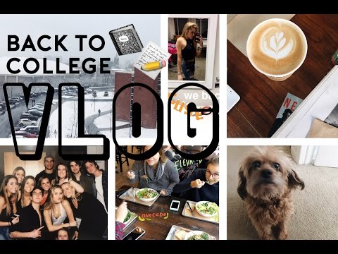 college vlog: back from break // syracuse university
