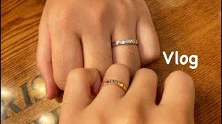 vlog) 500일 기념일 데이트❤️ 인생 첫 커플링 …