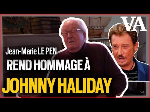 Jean-Marie Le Pen chante son hommage à Johnny Hallyday
