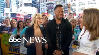 Rashad Jennings and Emma Slater discuss the 'Dancing' tour