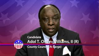 Adol T. Owen-Williams (R), County Council At Large - Montgomery County, Maryland