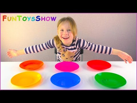 Thumbnail: Learn Colours with Frisbee Toys for Families Children and Toddlers Outdoor Colors Play Activity